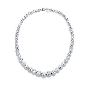 Tiffany's Graduated Ball Necklace - Silver